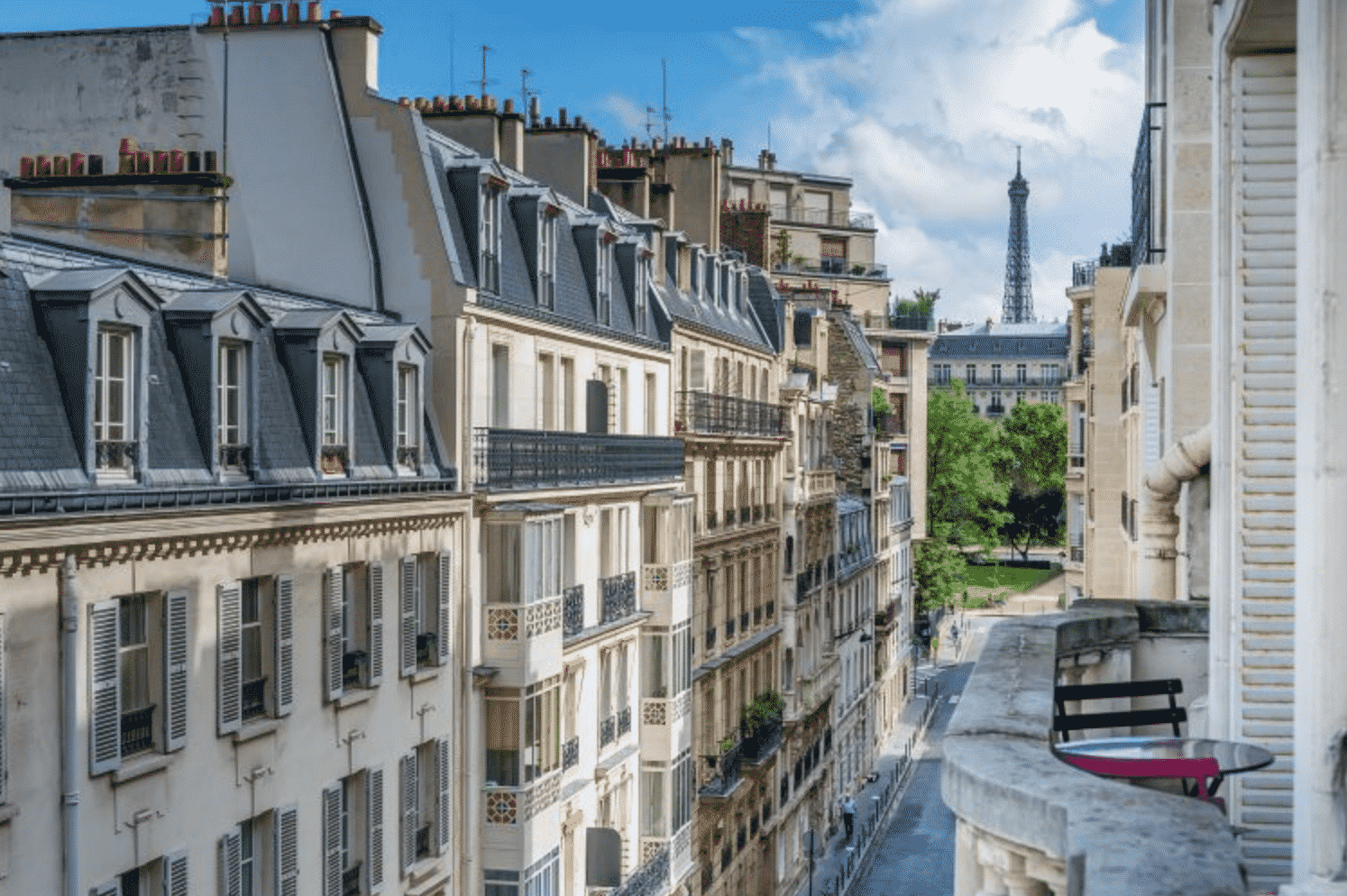 Two Bed Two Bath Apartment With Eiffel Tower View In