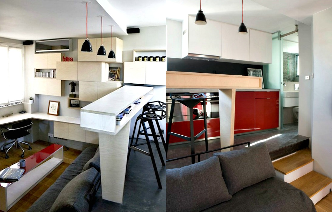 Awesome Tiny Homes, Paris: A Look Inside The Micro Apartments Of Paris